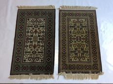 Two hand knotted Ardabil rugs, 1960