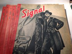 Magazines; Signal. German magazine in French - 11 volumes - 1944