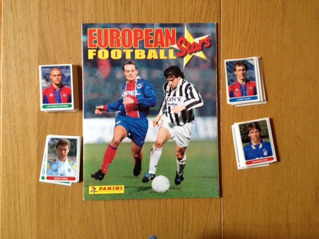 Panini-European Football Stars - Complete loose set of stickers + empty album.