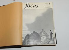 Focus photo magazines bound in hard cover: 1955