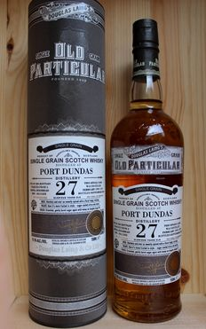 Port Dundas 27 Glorious years old Single Grain Scotch Whisky incl. Box,  Old Particular / Douglas Laing & Co, closed distillery