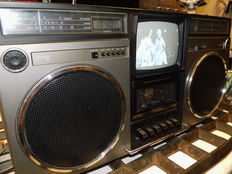 Very nice portable Philips Radio - Cassetterec. - television set from 1982 type: ART60