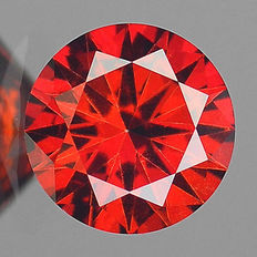0.13 cts.  brilliant cut diamond Sparkling Red SI1