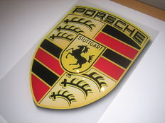 Plexiglass Porsche Logo - 45 x 30 cm - as new