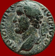 Roman Empire - Antoninus Pius (138 - 161 A.D.) bronze as (12,30 g. 25 mm), Rome mint, 145 - 161 A.D. TR POT COS IIII. Ceres. Bust to left