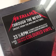 Metallica ‎– Through The Never (Music From The Motion Picture) deluxe coloured vinyl 3LP Box factory sealed, mint condition, even in original pressing plant mailer!