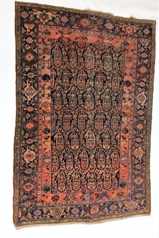 Hand knotted Malayer carpet, 1900/1920.