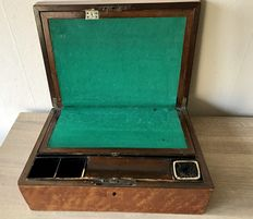 Mahogany writing box Netherlands approximately 1900