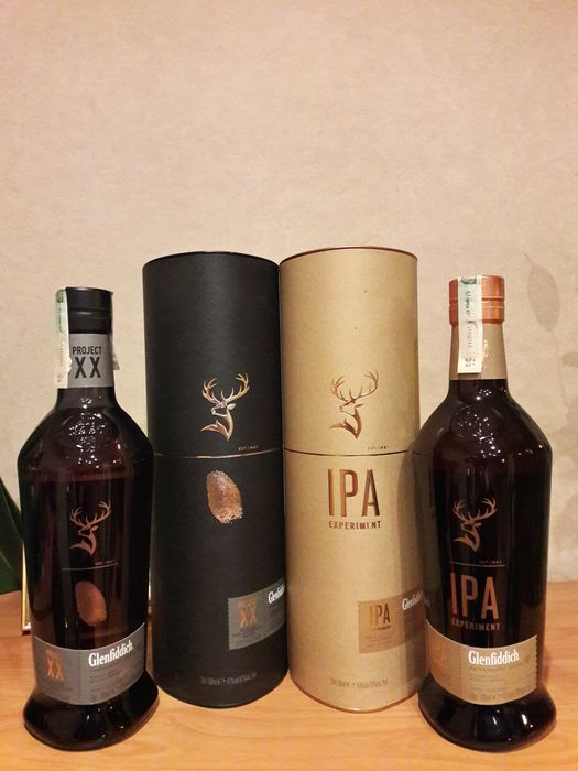 2 bottles - Glenfiddich Experimental Series - Project XX & IPA