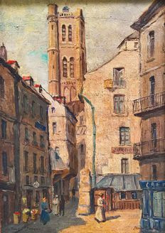 Jean Malus (20th cent.) - La Tour Saint-Jacques à Paris