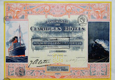 France – Compagnie des Claridges Hotels – 1921 – DEKO