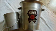 Moët & Chandon Champagne cooler, aluminium + one ice bucket, in neutral aluminium
