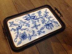 Large antique Zwiebelmuster tray, ca. 1910