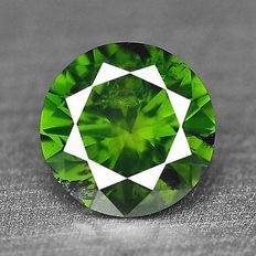 0.20 cts.  brilliant cut diamond Sparkling Green I1