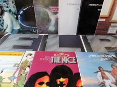 Progressive rock. Lot of ten albums by Emerson, Lake and Palmer and the Nice.
