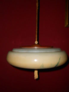 Art Deco style lamp opalne lampshade from 30s