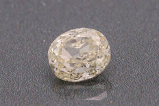 Beautiful 0.53 ct diamond, oval cut, light yellow (R-S) VS1