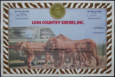 USA – share Lion Country Safari Inc. – 1980