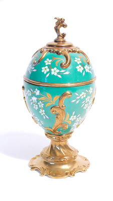 "Collector's egg gold-plated porcelain music box ""House of Fabergé Musical Eggs, Jasmine"""