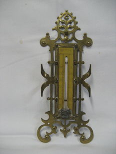 art nouveau thermometer messing