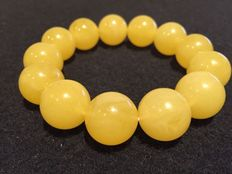 Ø 20mm Butterscotch Baltic amber beads bracelet