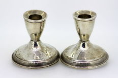 Duchin Creation - Pair filled silver candlesticks