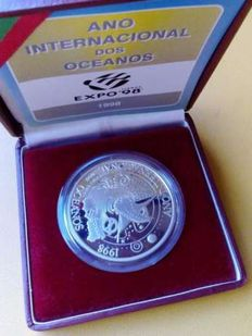 Portugal - 1000 Escudos in Silver from the International Year of the Oceans Expo 98 - 1998 - Lisbon