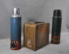 Set of x 2 thermos, x 1 military cooker - Imo, Adler, Buplay