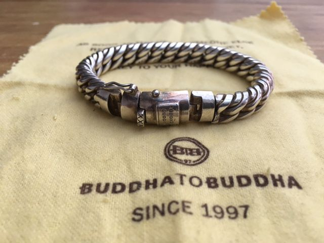 Bracciale Buddha to Buddha in argento sterling 925