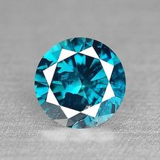 0.17 cts.  brilliant cut diamond Sparkling Titanic Blue I3