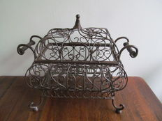Large wrought iron basket