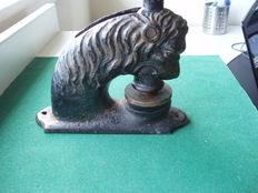 Oddity - Cast iron office stamp - Lion - ITHACA N.Y. 1818