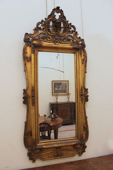 Gilt mirror in rococo style - France - second half of the 19th century