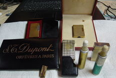 Lots of 3 lighters st Dupont for parts and accessories - 1970-80's + lighter Sylvia
