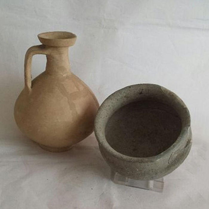 Collection of Gallo Roman pottery - 7.0/14.5 cm (2)