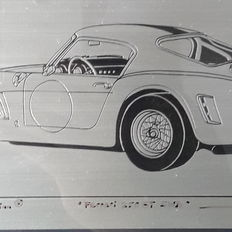 Signed and limited edition Ferrari GT 260 SWB Tin graphics - Germany - 1992 - artist Andreas Hentrich