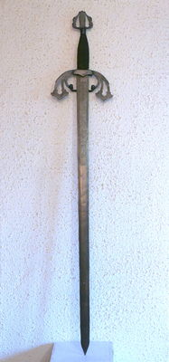 Medieval style wrought iron sword