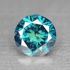 0.15 cts.  brilliant cut diamond Sparkling Titanic Blue I1