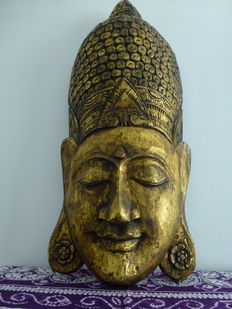 Very large Buddha wall mask 98 cm - 2nd half of 20th century, Asia