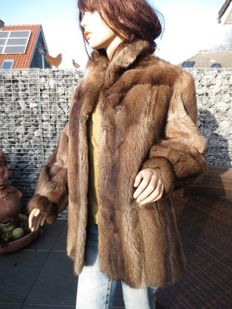 Beautiful muskrat fur coat