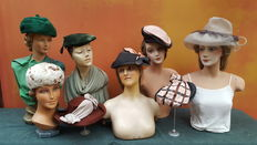 Collection of vintage ladies hats.