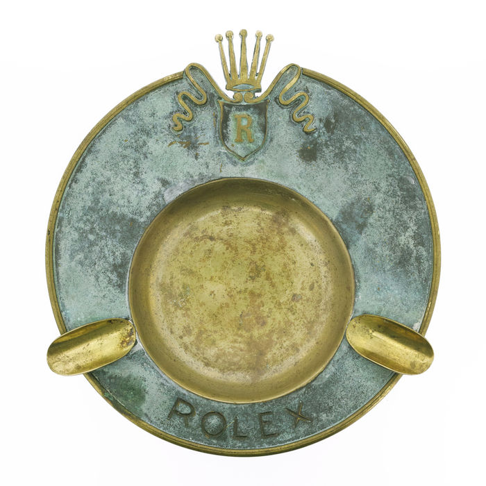 ROLEX - Vintage Brass Ashtray - 1950s