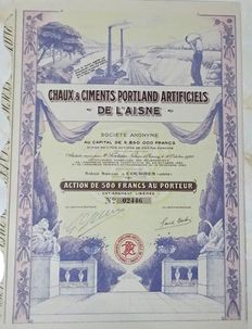 France - Portland cement - 1920 - Decorative