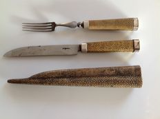 Travel cutlery in shagreen case - Holland- 18th century