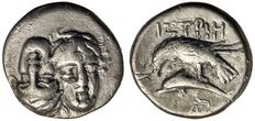Greek Antiquity - Thrace, Istros, (400-350 BC) Silver Stater