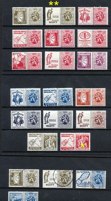 Belgium, collection of railroad stamps, publicity stamps, tête-bêche and occupied territories