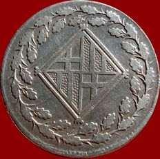 Spain - War of Independence - French Occupation (1808 - 1813) 1 silver peseta, 1811 - Barcelona