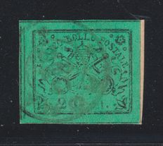 Papal States, 1867 - 2 cents - Used - Sassone #13