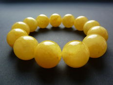 Baltic Amber bracelet in egg yolk,  butter colour