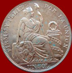 Republic of Peru - 1 silver Sol - Lima, 1914